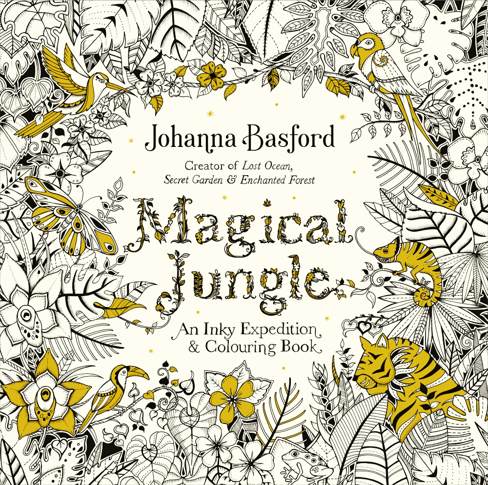 Magical Jungle, by Johanna Brasford - Coloring Pages for Adults
