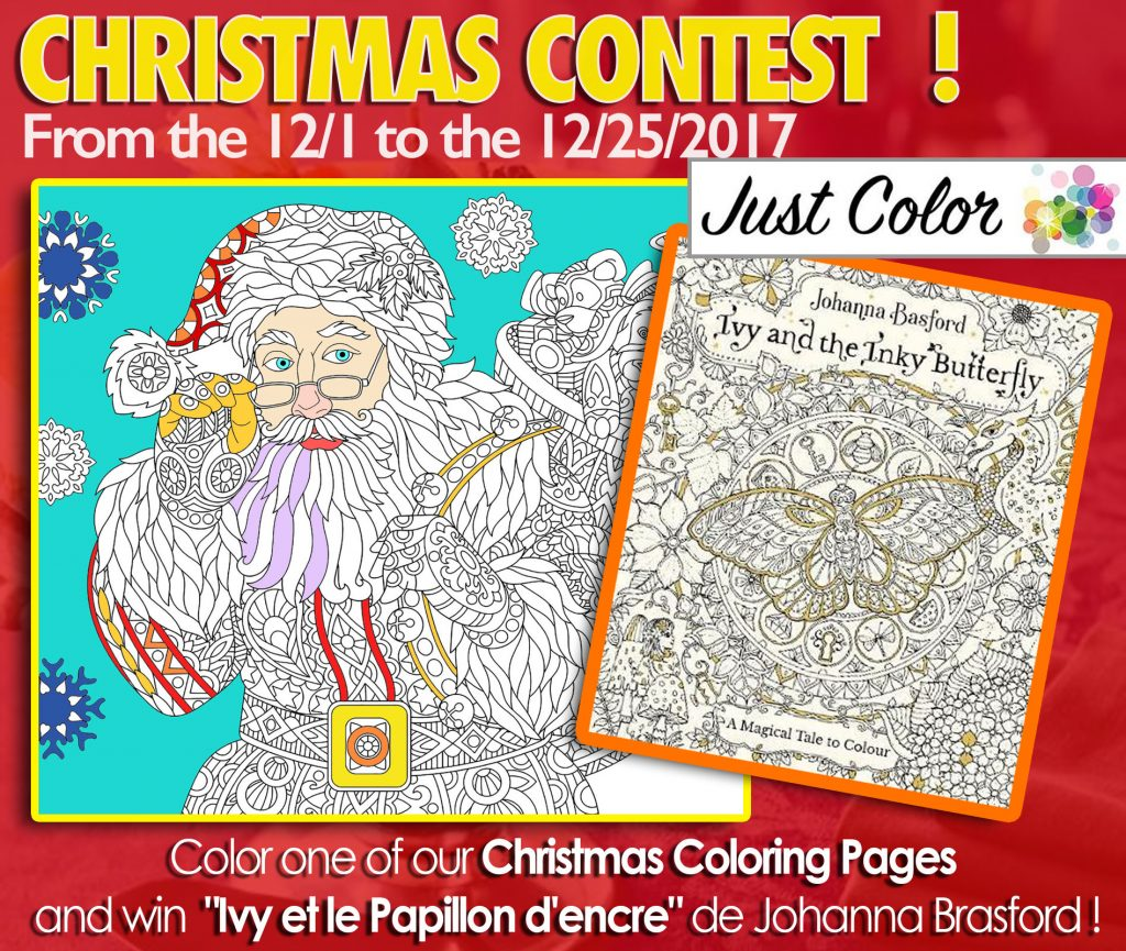 Christmas Creative Contest Win Johanna Basford Coloring Books