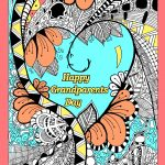 Grandparents Day Coloring Pages for Adults