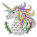 Unicorns coloring pages for adults