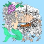 Mermaids Coloring Pages for Adults