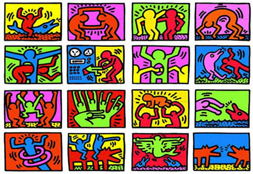 Keith Haring 13 Pop Art Adult Coloring Pages