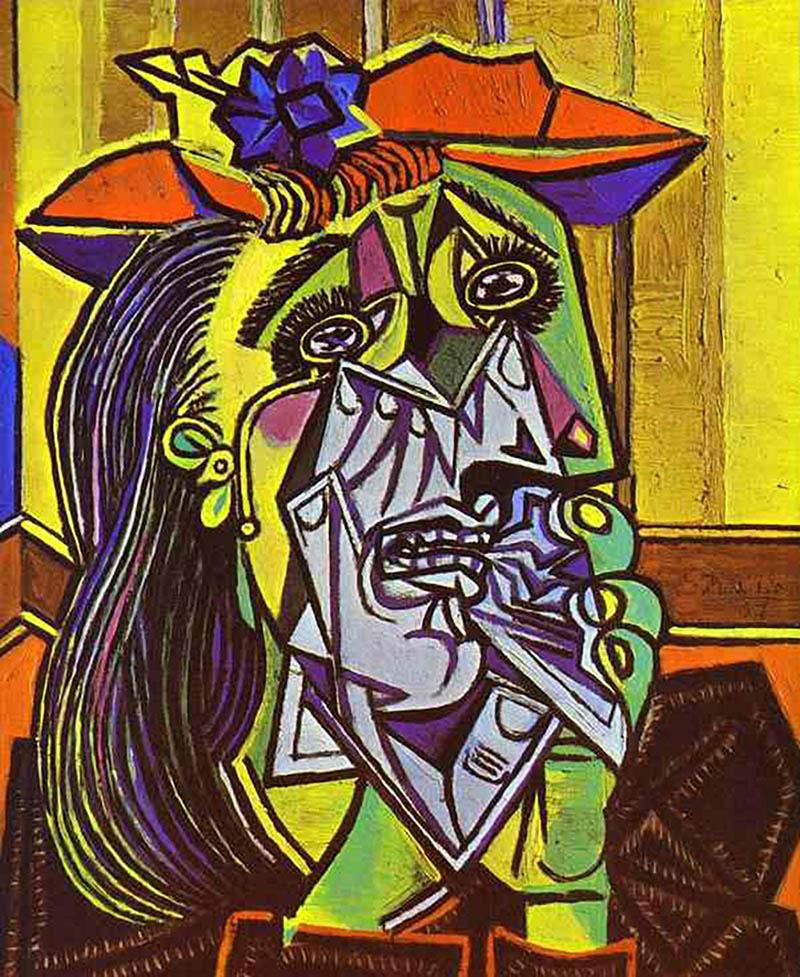 D Apres Picasso Femme Qui Pleure 1937 Chefs D œuvres Coloriages Difficiles Pour Adultes