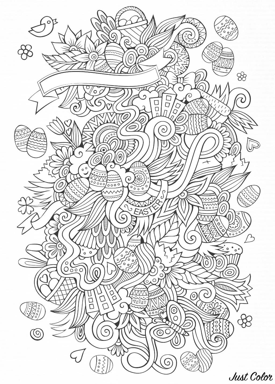 wt2 coloring adult easter plex by olga kostenko
