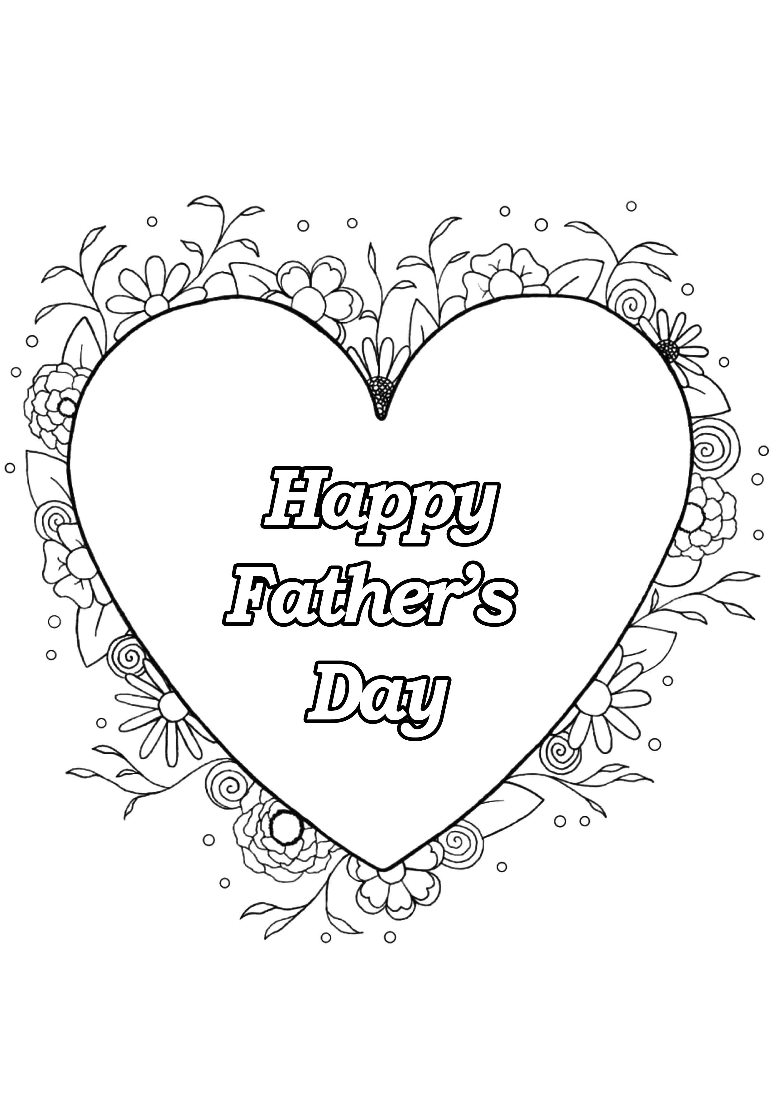 Father s day 4 - Father\'s Day Adult Coloring Pages