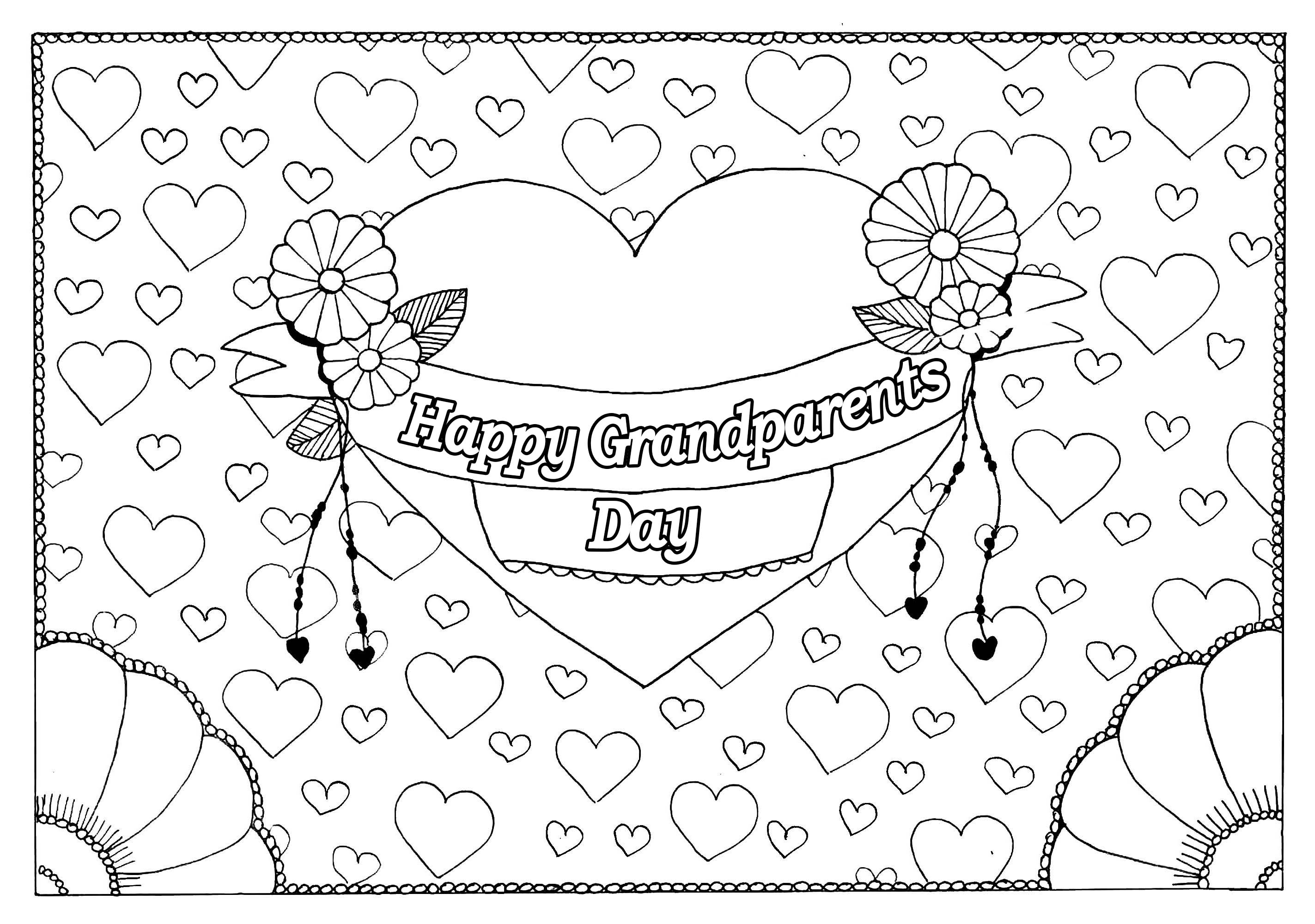 grandparents day coloring pages Grandparents day 5   Gr&parents Day Adult Coloring Pages grandparents day coloring pages