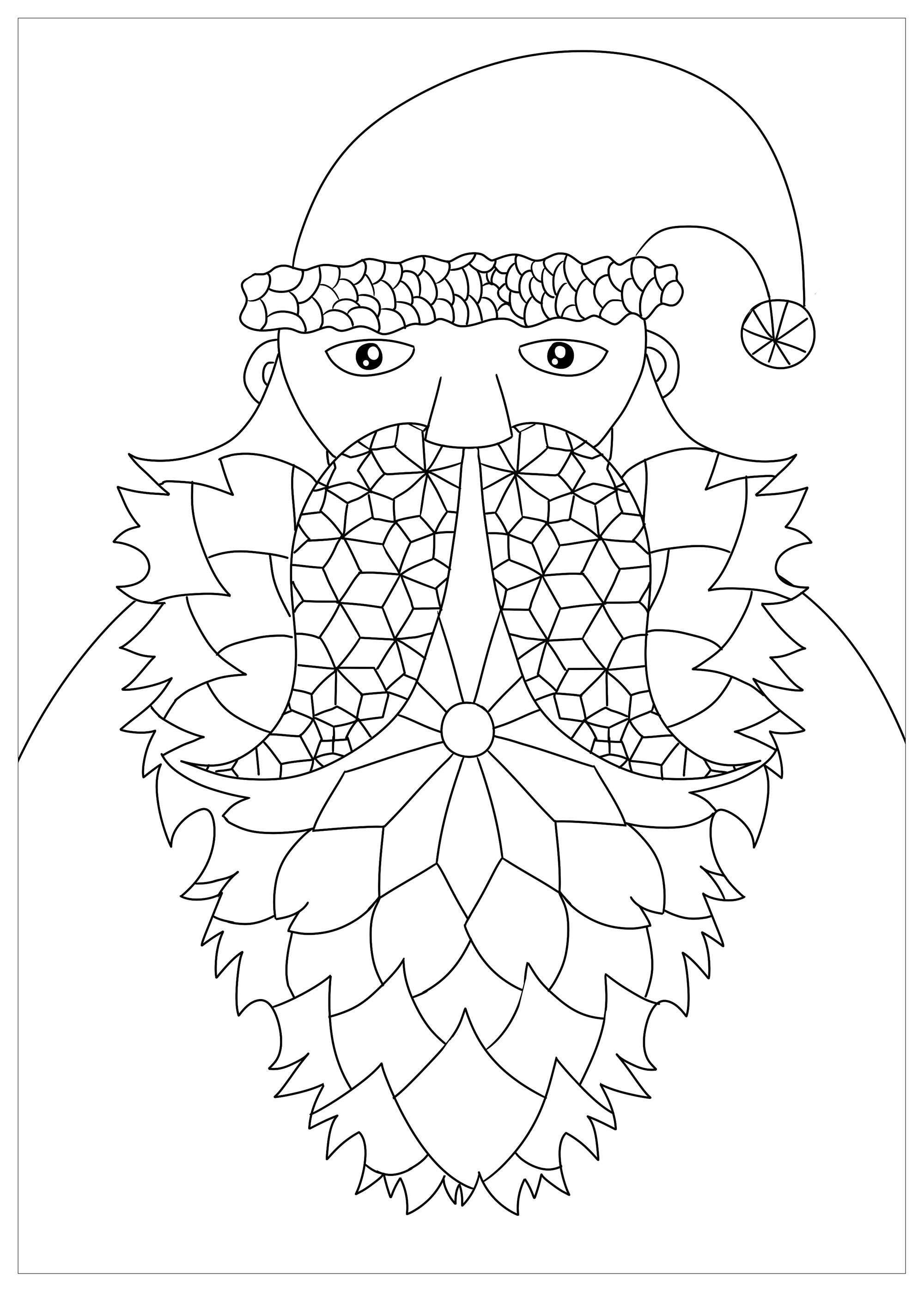 Santa Claus in a simple drawing - Christmas Coloring pages ...