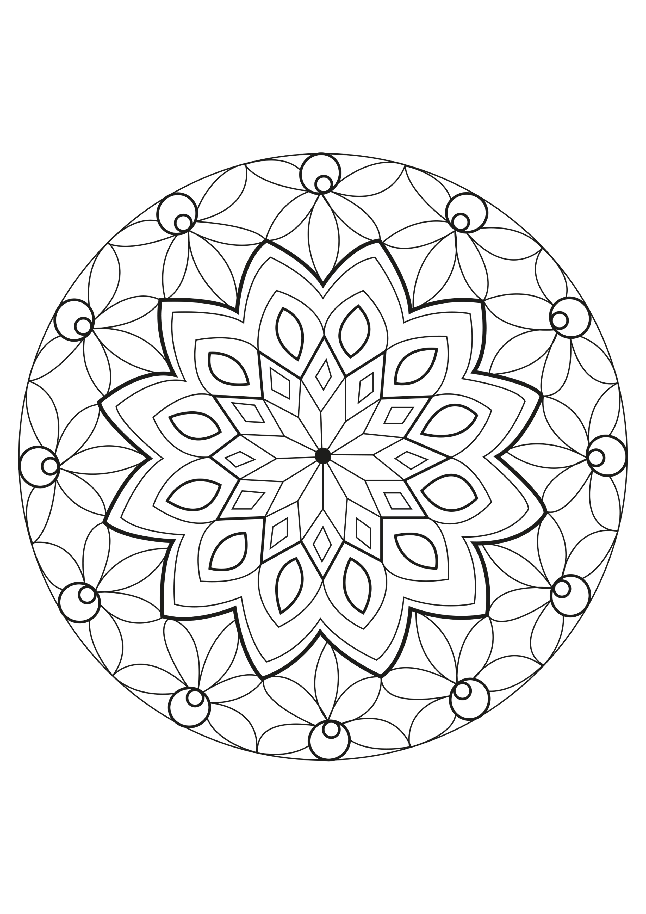 coloring page adults mandala celine a special mandala made by celine from the gallery mandalas