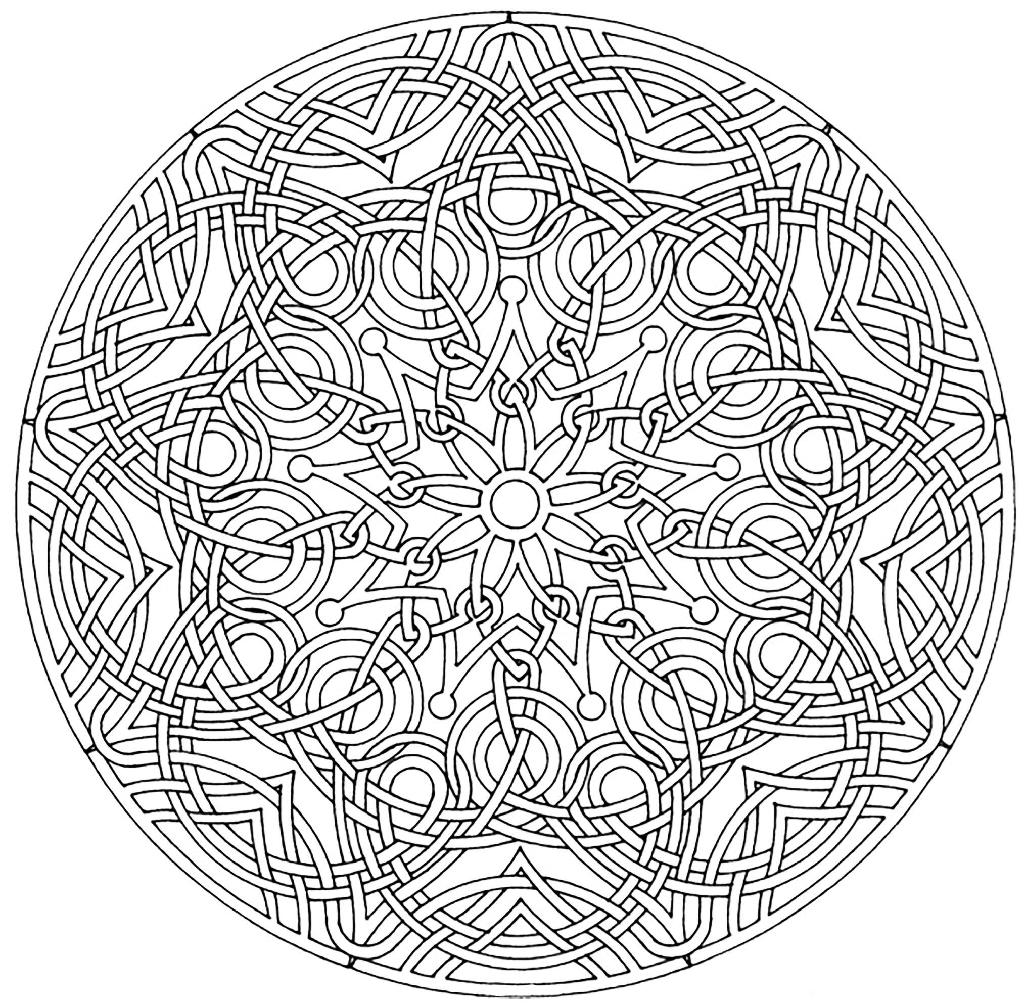 Mandala coloring pages for seniors - Royal Mandala From The Gallery Mandalas