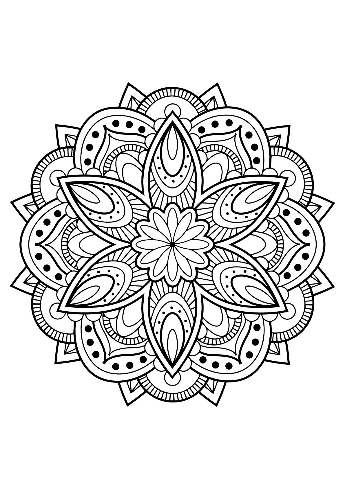 Mandala from free coloring books for adults 16 - M&alas Adult ...