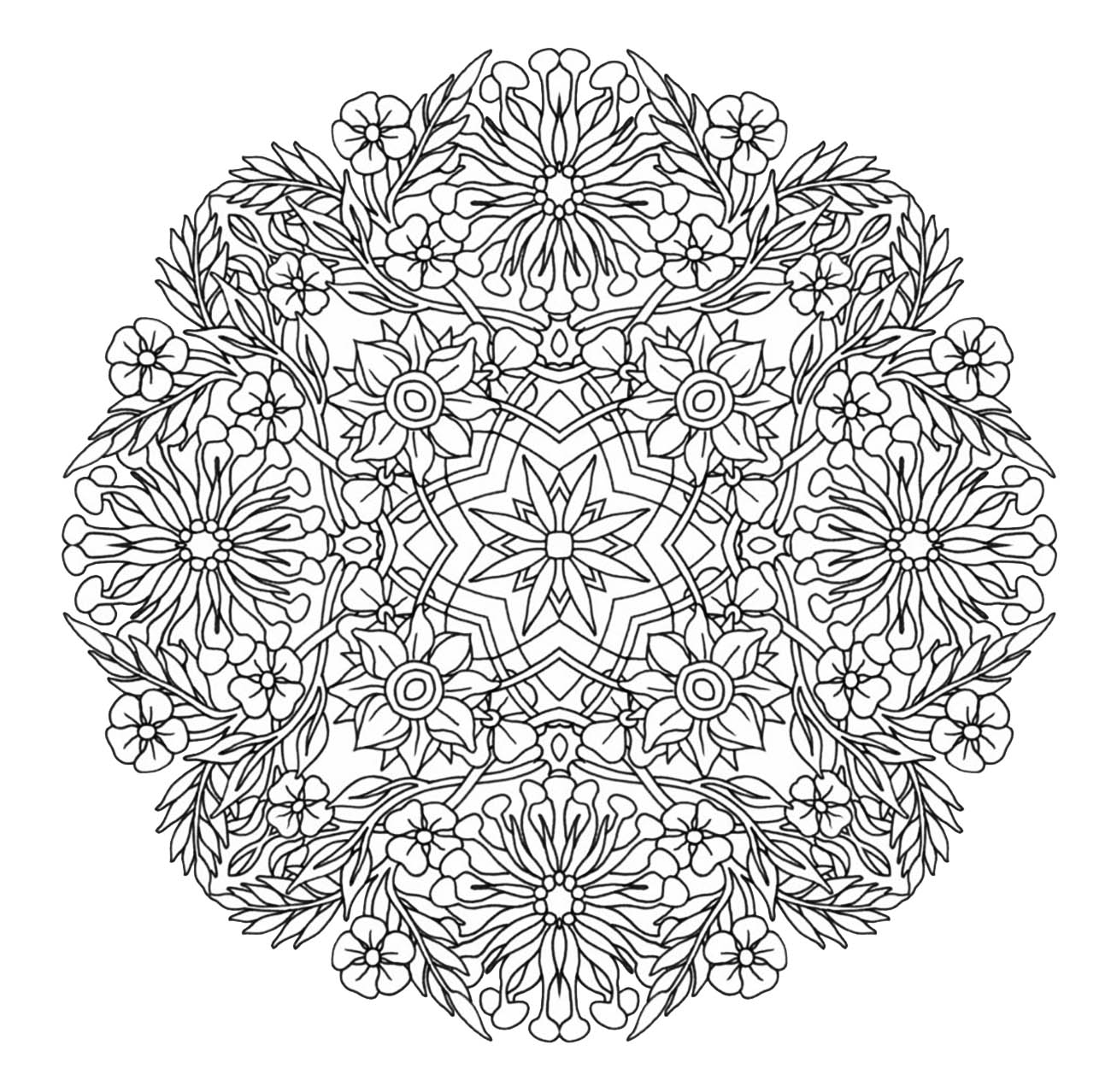 Unique mandala coloring pages - Mandala To Download In Pdf 9