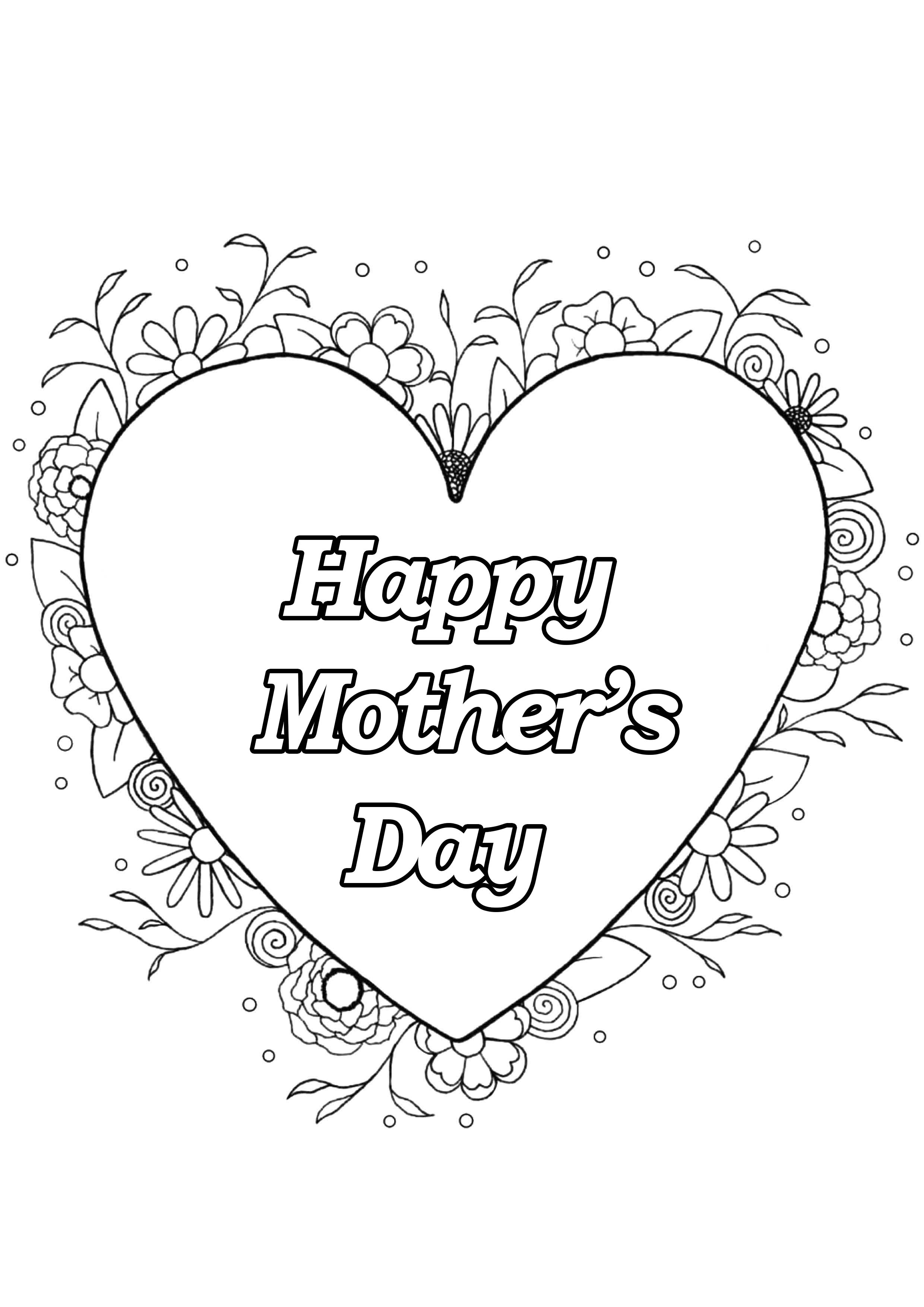 - Mother S Day 4 - Mother's Day Adult Coloring Pages