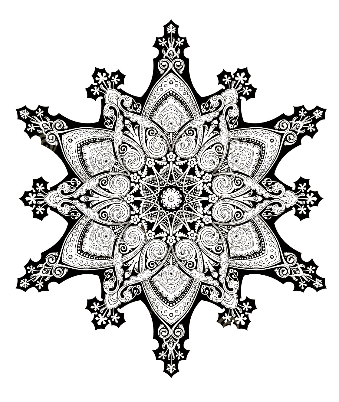 Oriental mandala 2 - Image with : Symmetry