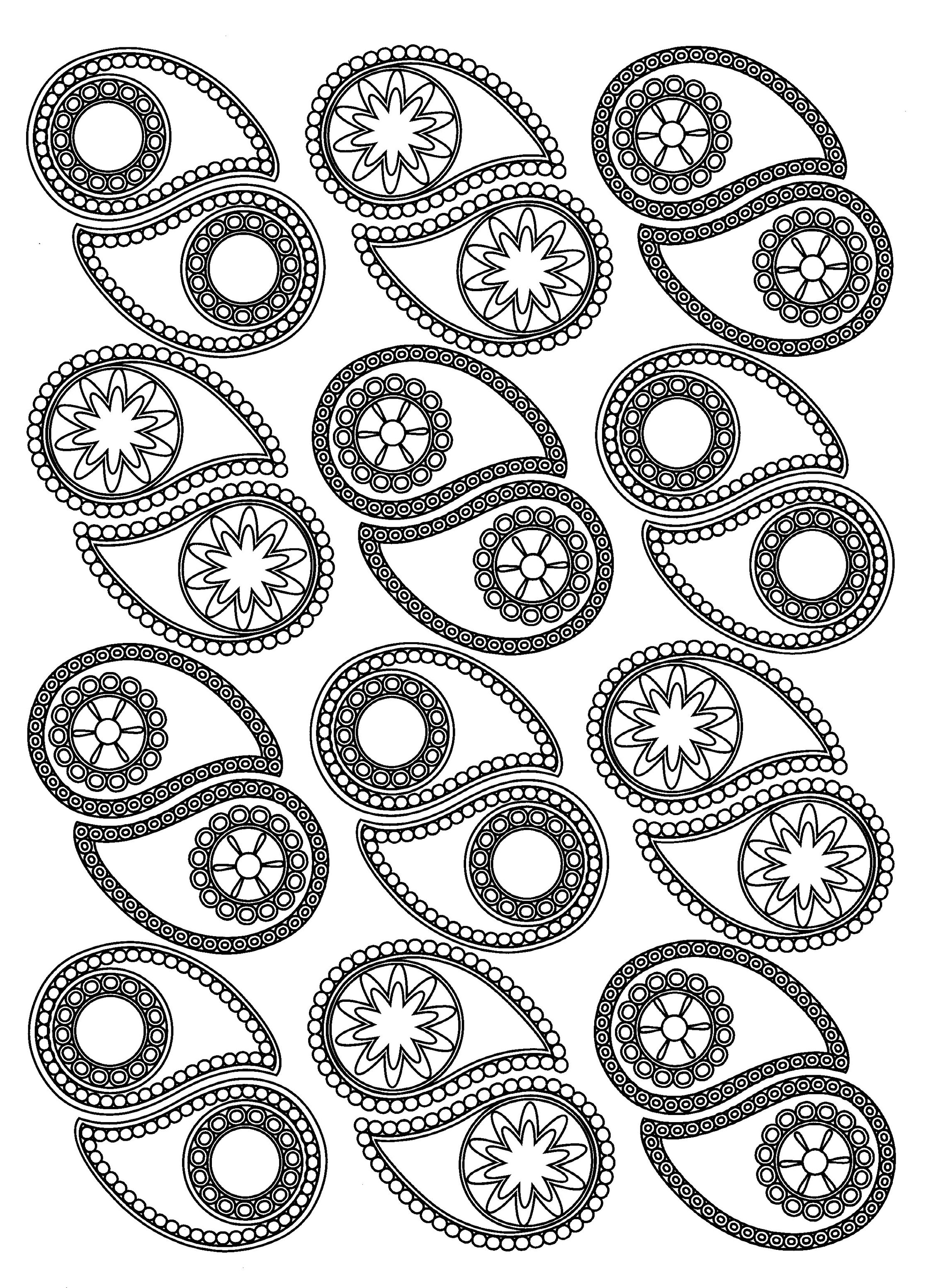 Various Paisley patterns