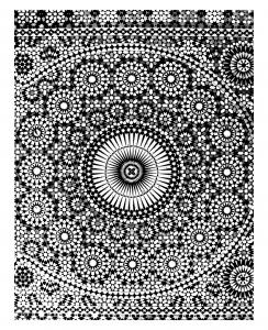 Coloring adult oriental mosaique mekhnes