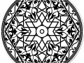 Arabic pattern in the shape of Mandala