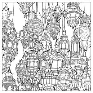 Multitude of morrocan lamps