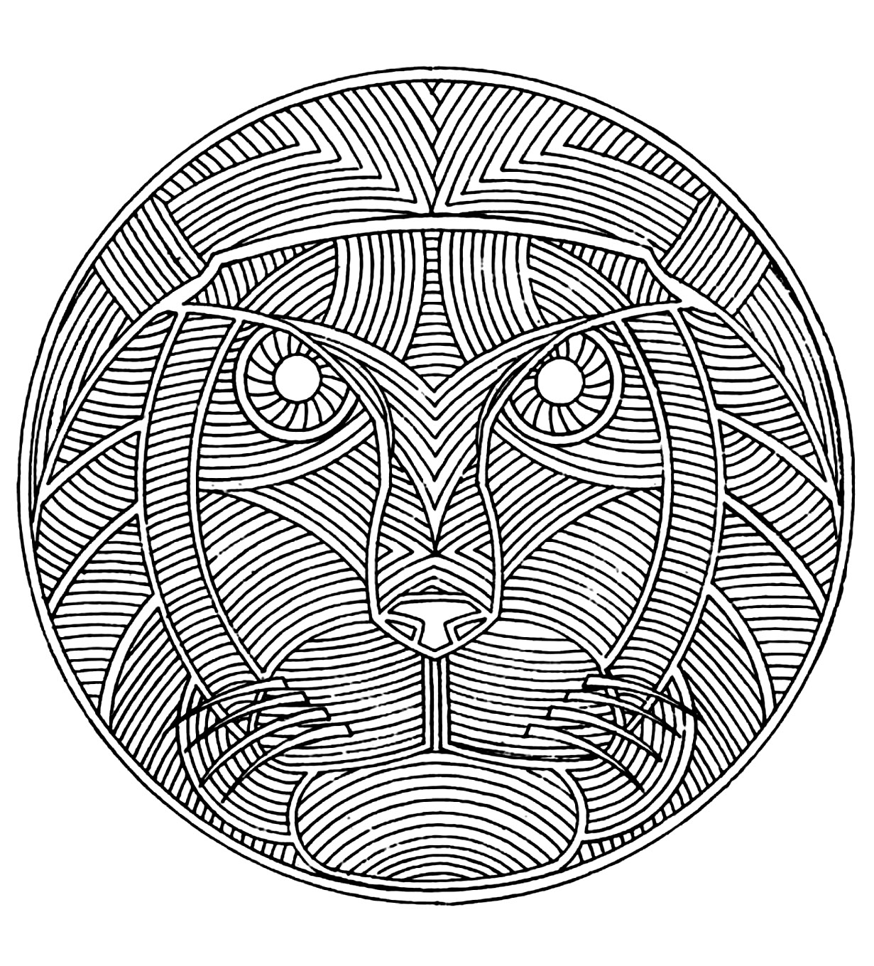 Africa Mandala Africa Adult Coloring Pages