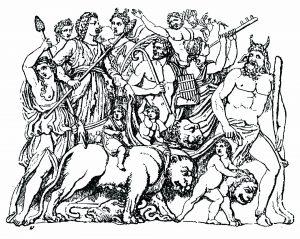 Coloring dionysus drawn by tiger