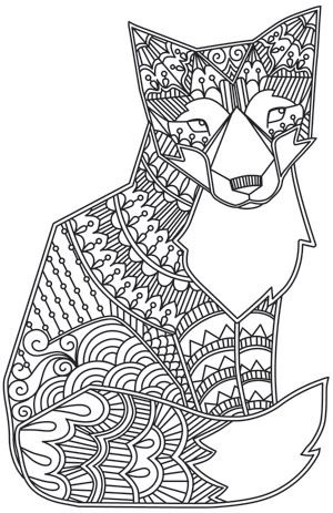 Animals Coloring Pages For Adults Coloring Adult Fox