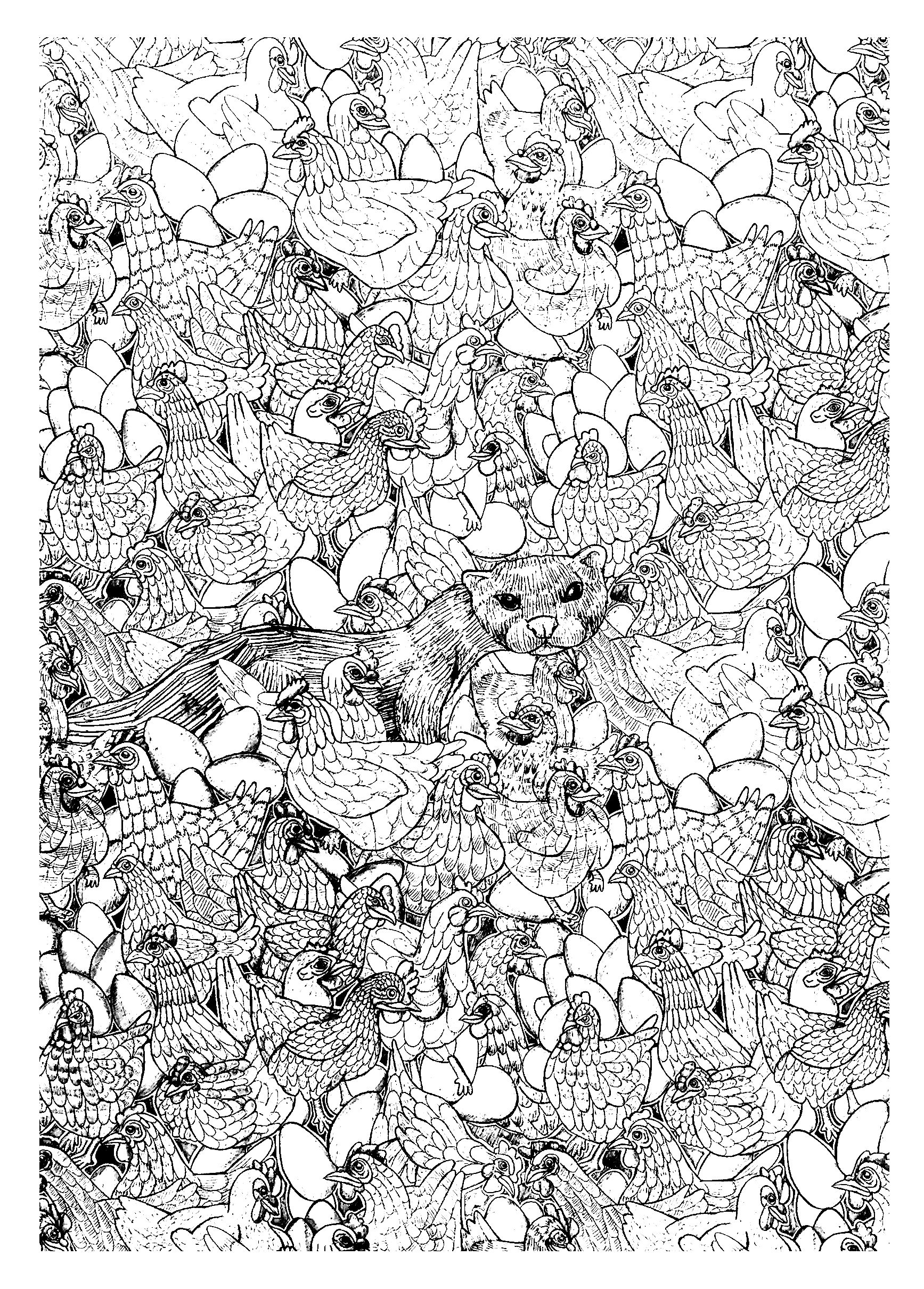 Uncategorized Ferret Coloring Pages hen ferret complex animals coloring pages for adults justcolor drawing to color with chickens and a from the gallery