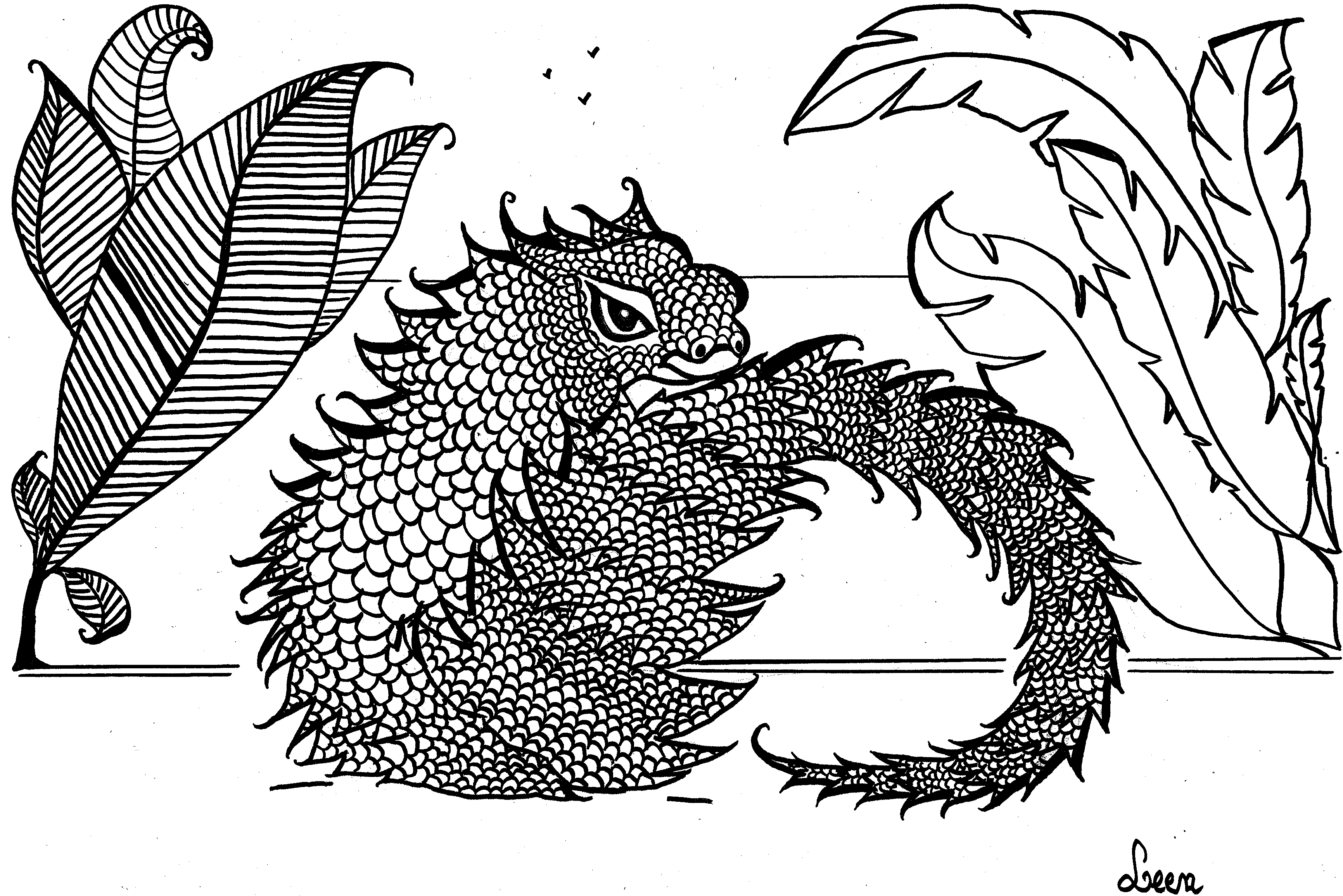 leen margot lizard animals coloring pages for adults justcolor