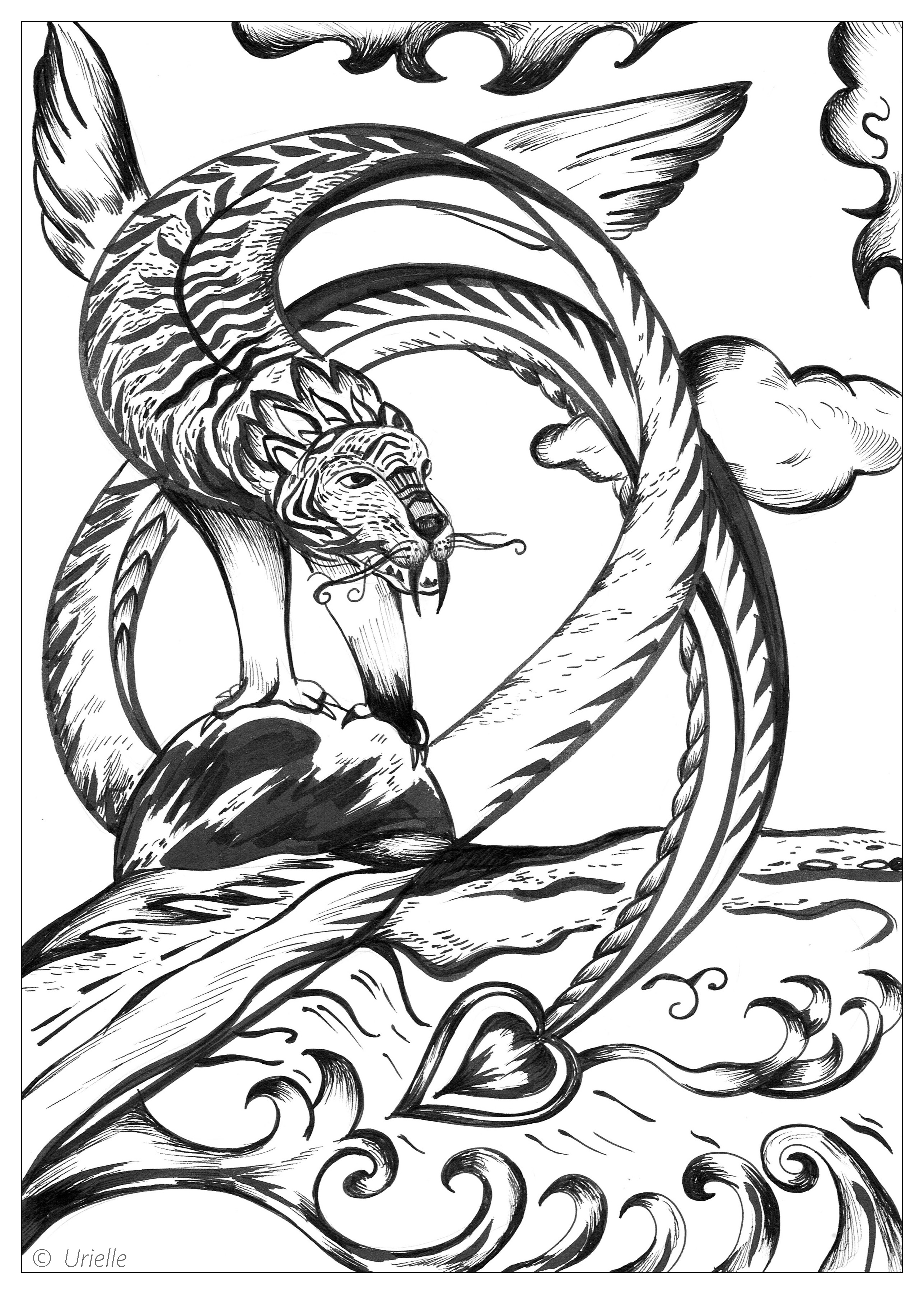 urielle force urielle coloring pages for adults justcolor