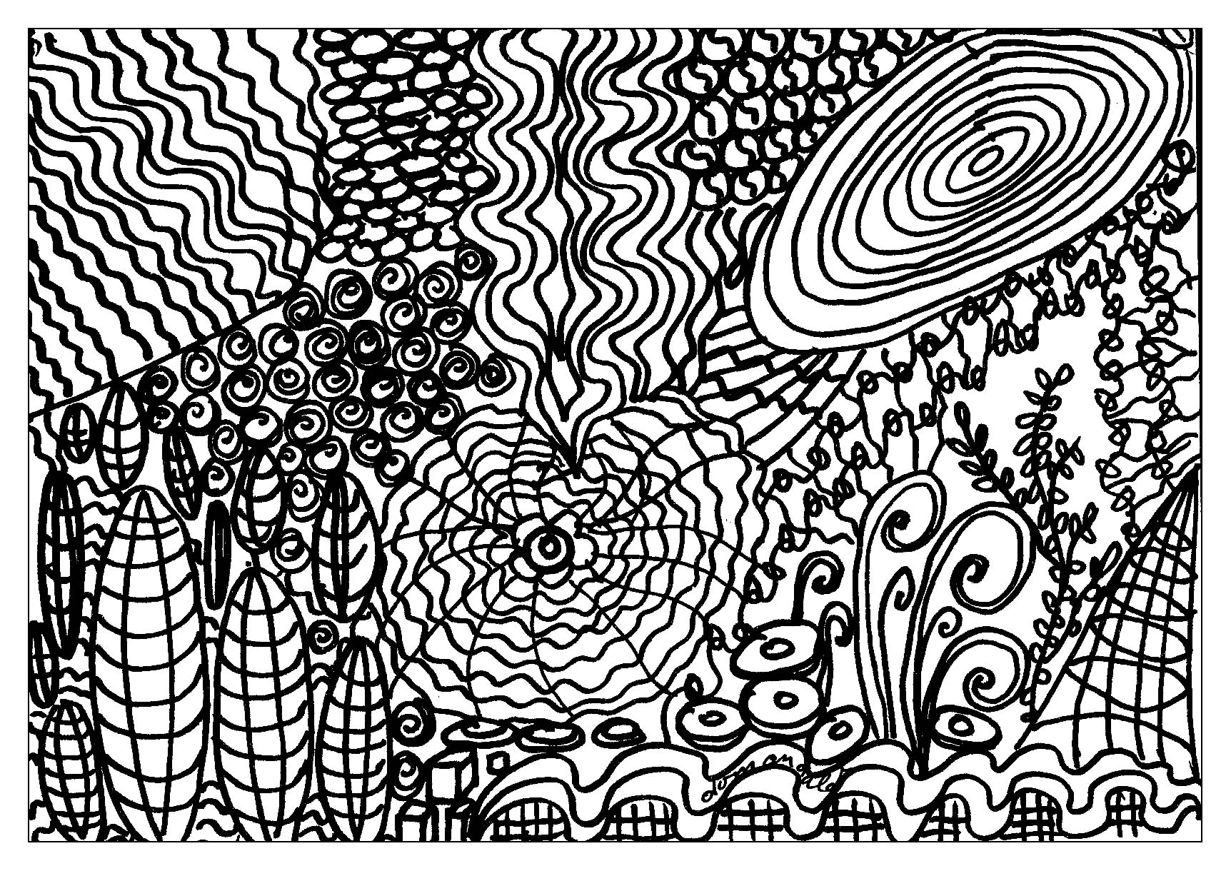 Abstract other thing anti stress adult coloring pages Zen coloring book for adults download