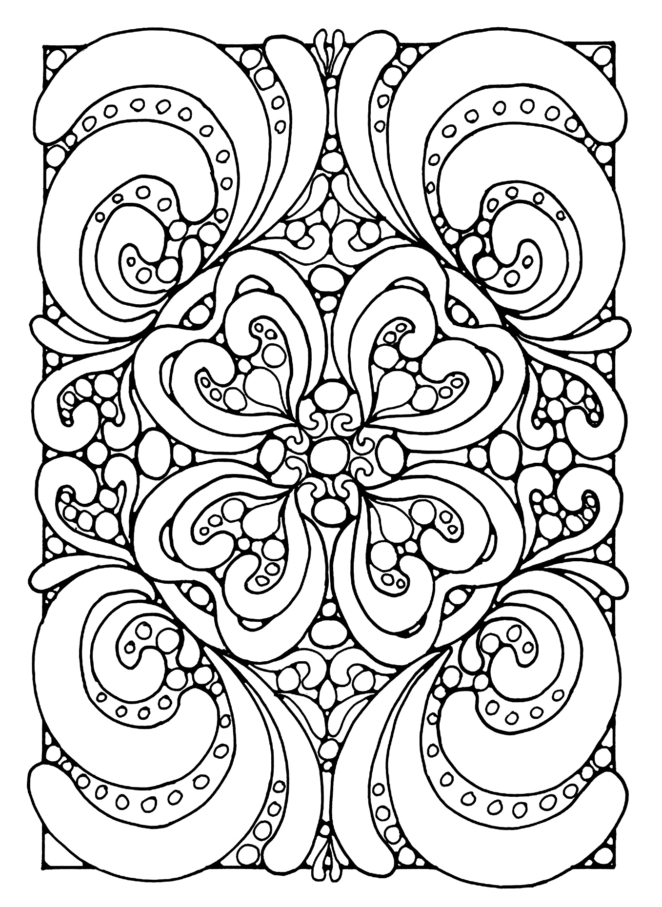 Abstract zen Anti stress Adult Coloring Pages Page 2