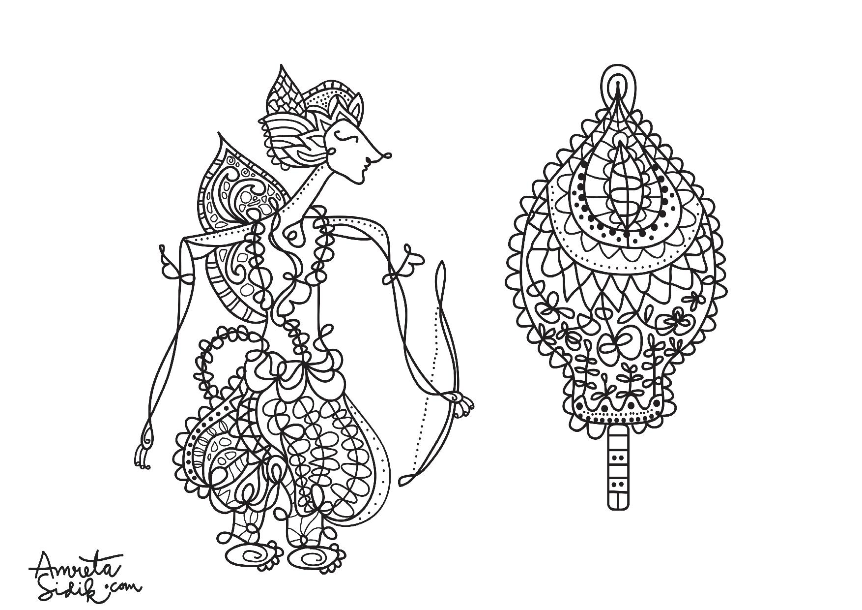 Javanese doll 6 - Image with : Woman