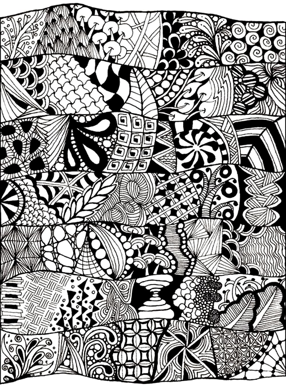 free printable coloring pages for adults zen : Coloring Adult Zen Anti Stress Abstract To Print Free
