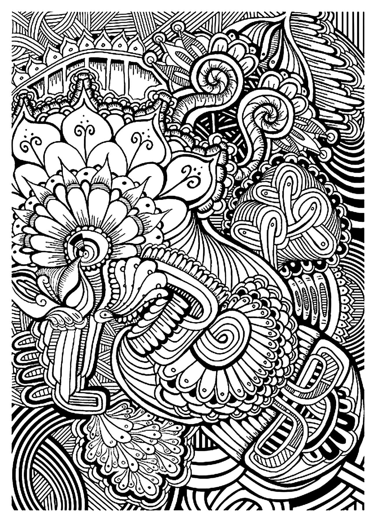 zen coloring pages Zen anti stress relax to print   Anti stress Adult Coloring Pages  zen coloring pages