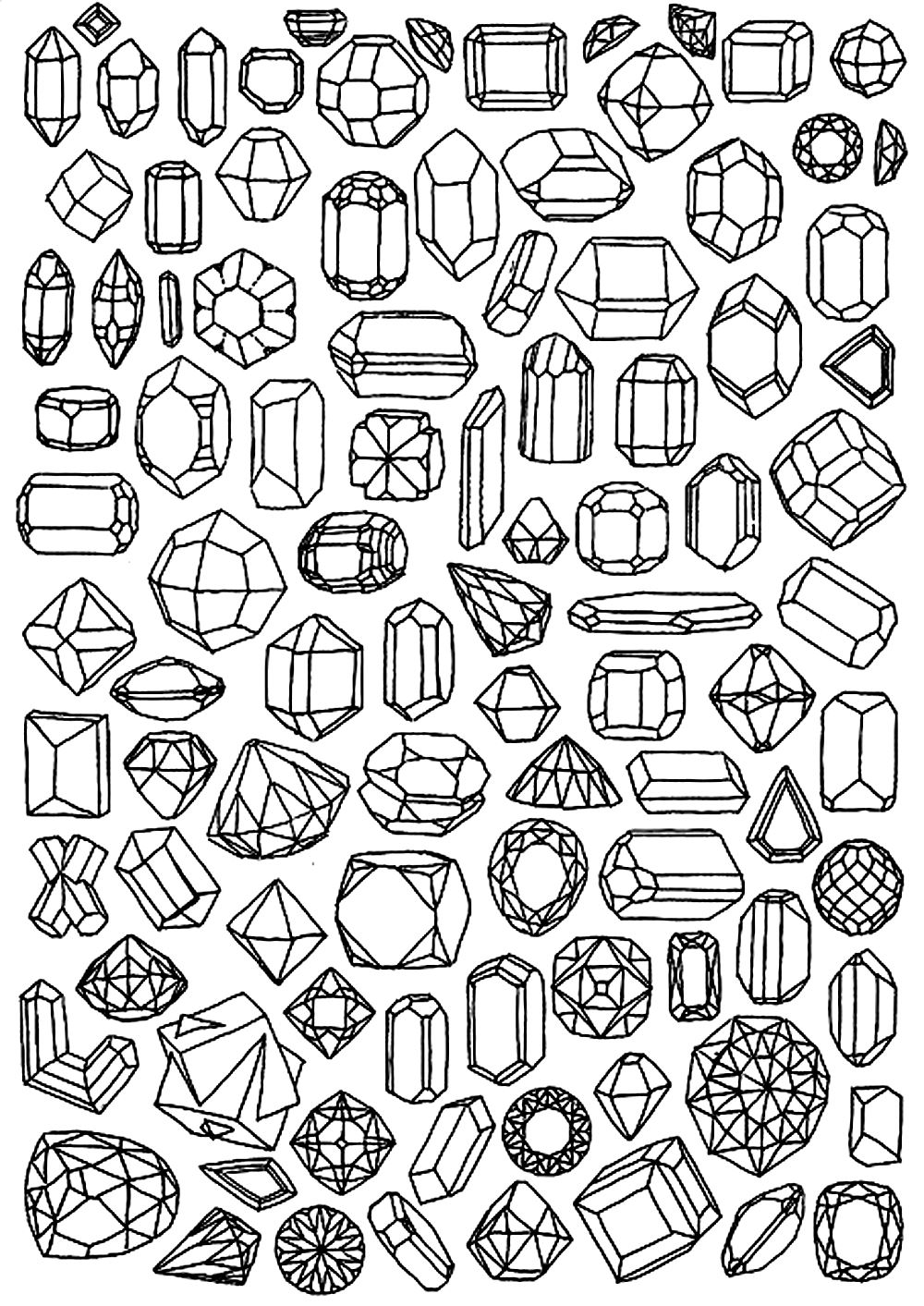 Diamond - Coloring Pages for Adults