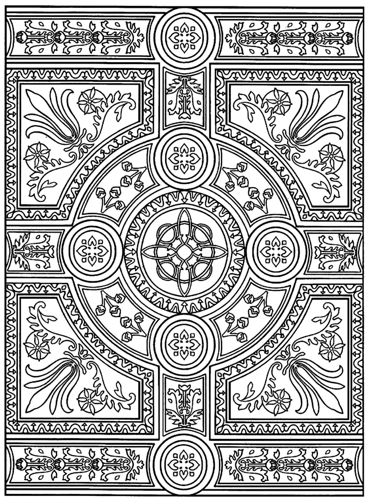 Anti stress colouring pages for adults - Zen Anti Stress To Print Parquet Patterns Image With Symmetrical From The Gallery