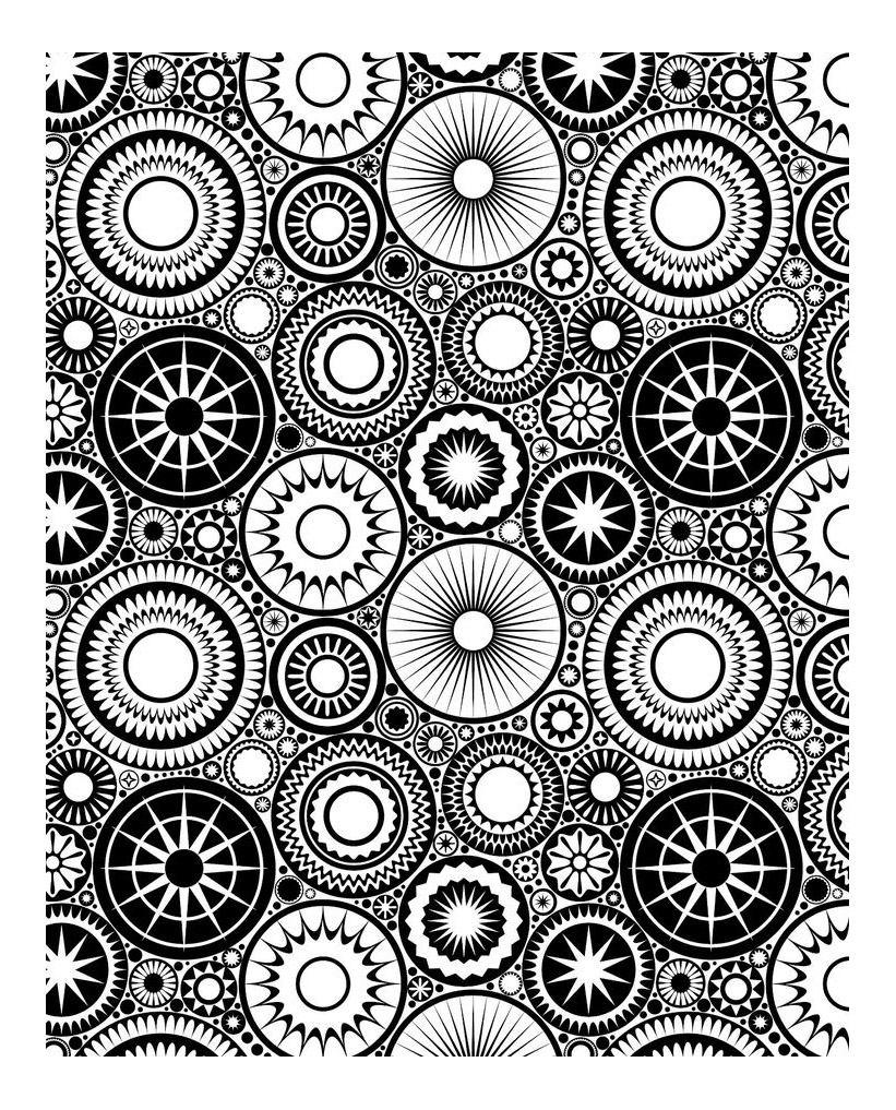 Anti stress rosaces Anti stress Adult Coloring Pages