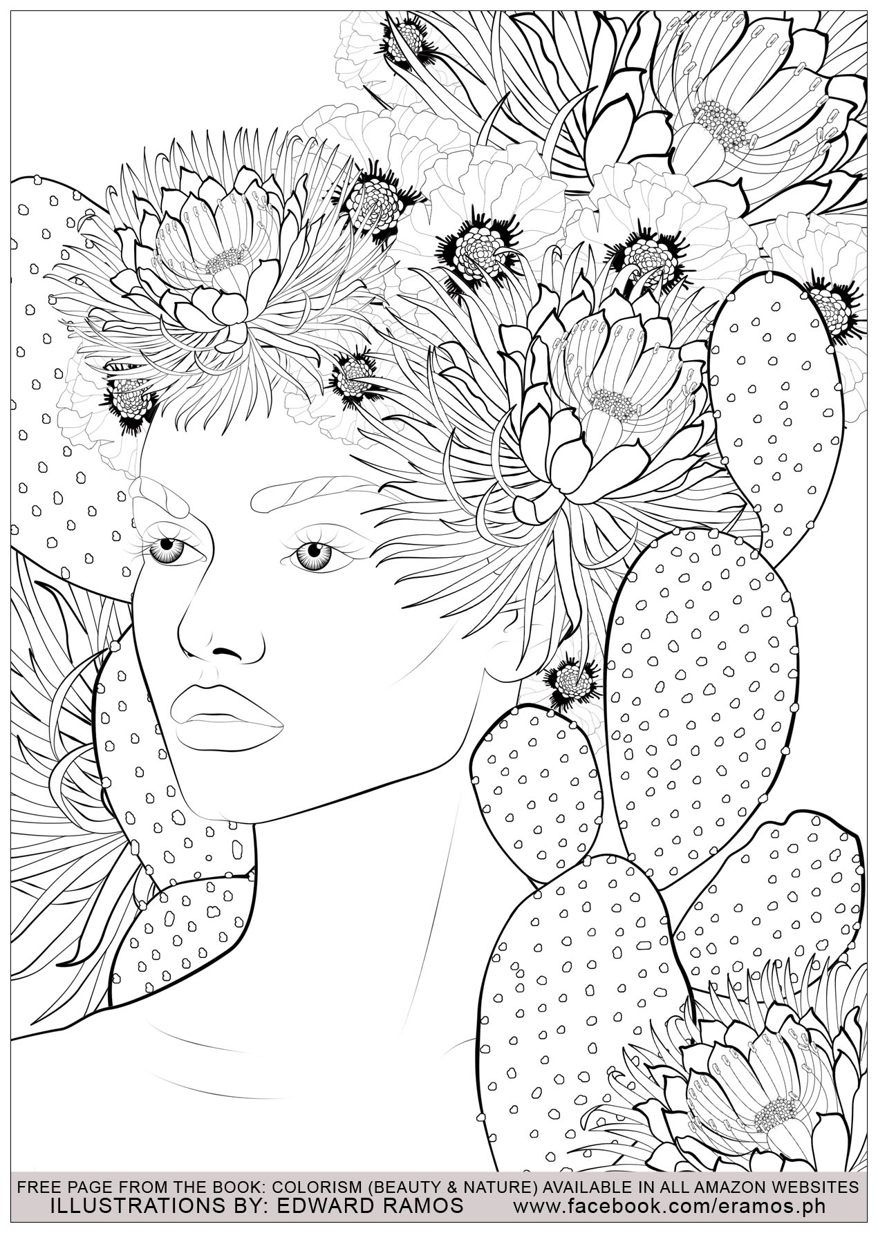 Illustration from the book Colorism - Beauty & Nature by Edward Ramos - 13