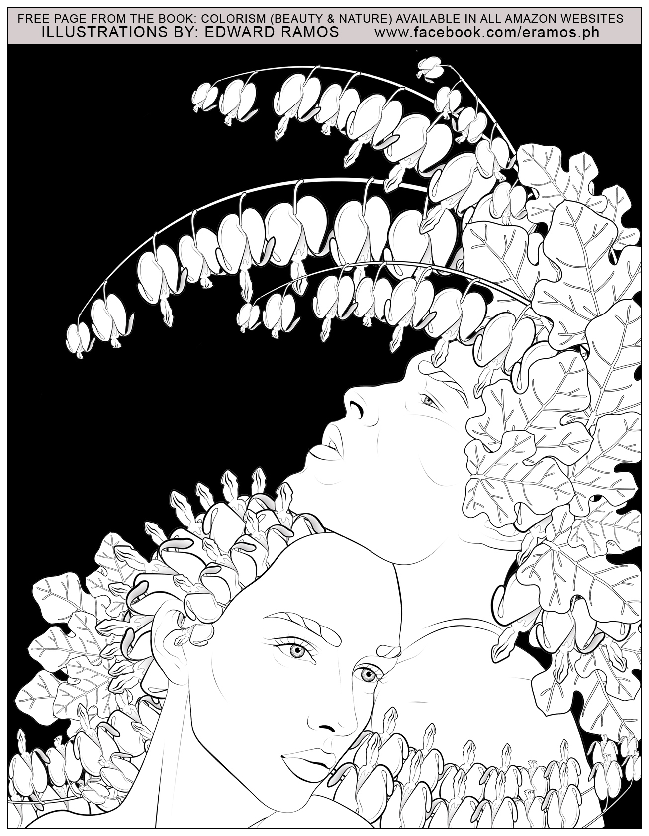 Illustration from the book Colorism - Beauty & Nature by Edward Ramos - 14