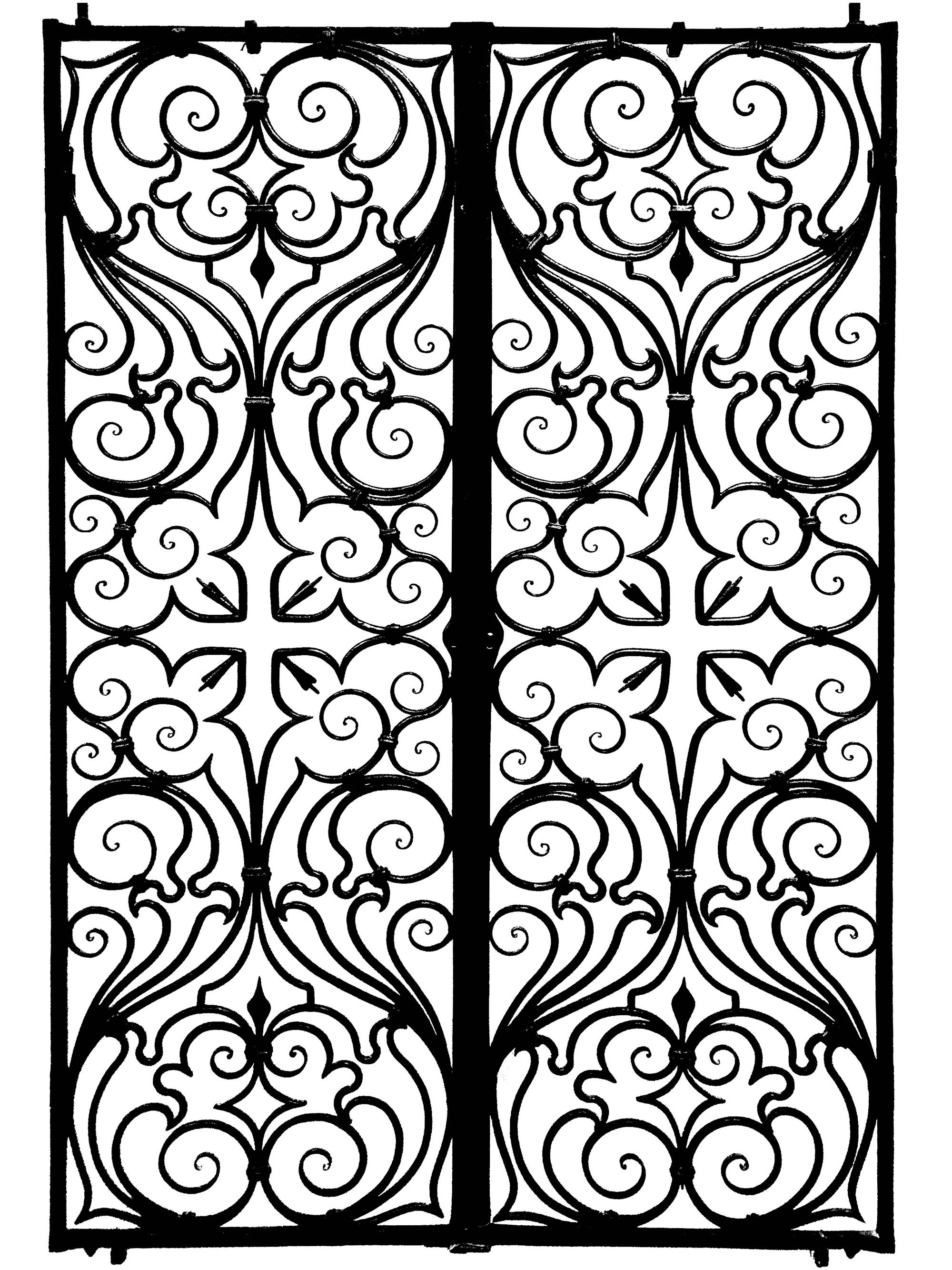 Coloring page created from a picture of a church gate (Italy, 17th century)