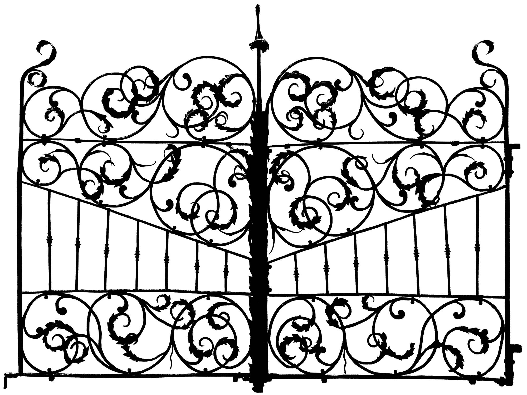 Gate Italy 17th Century 2 Anti Stress Adult Coloring Pages