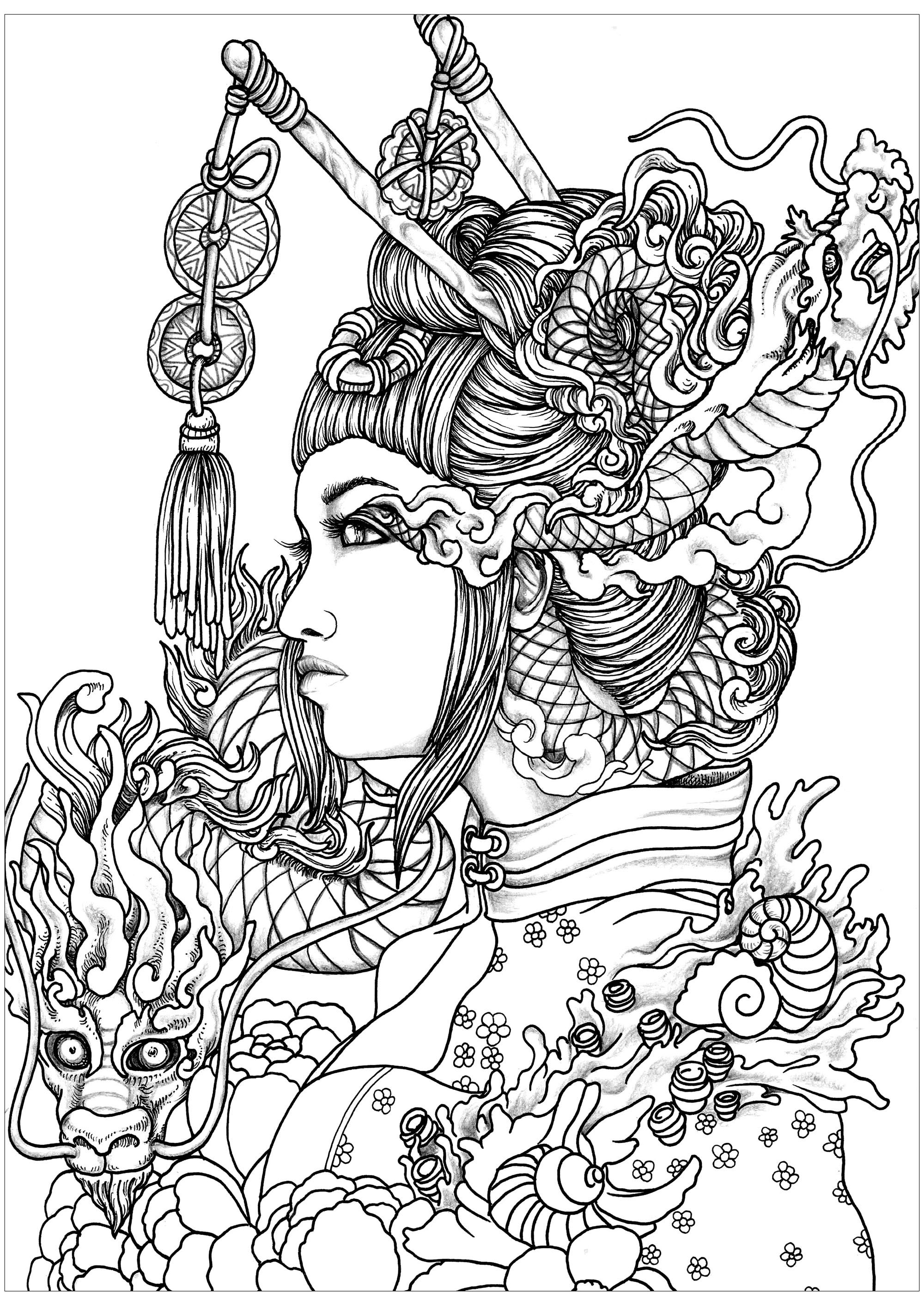 Woman - Coloring Pages for Adults