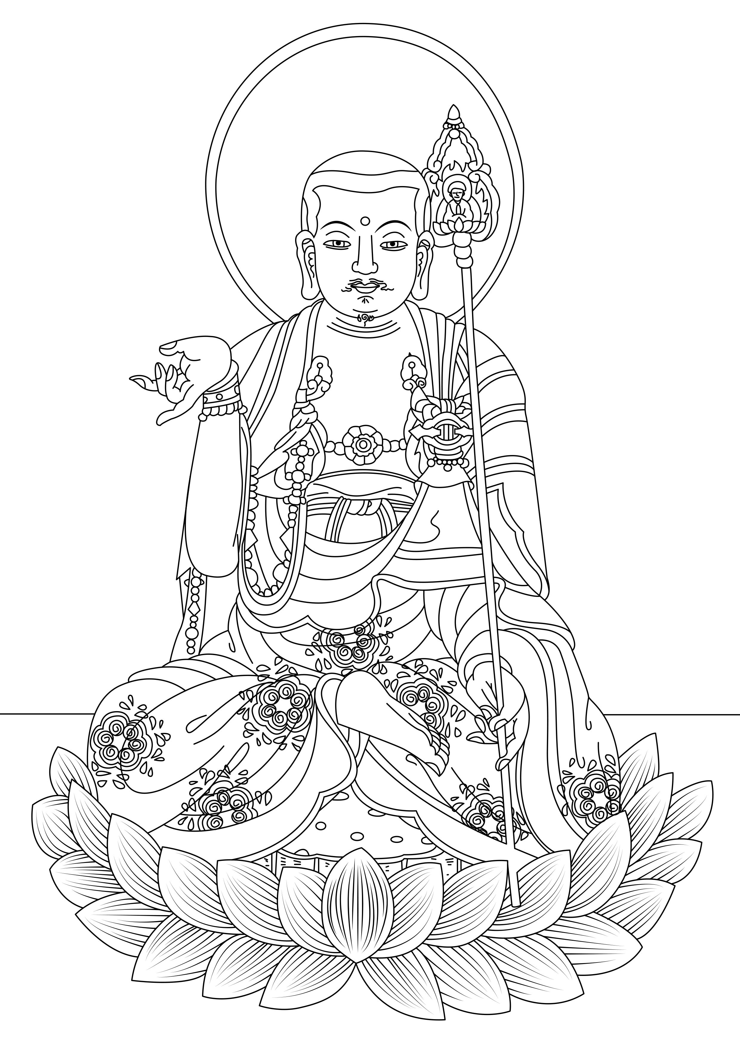 coloring page created from a painting by a south korean artist from the gallery