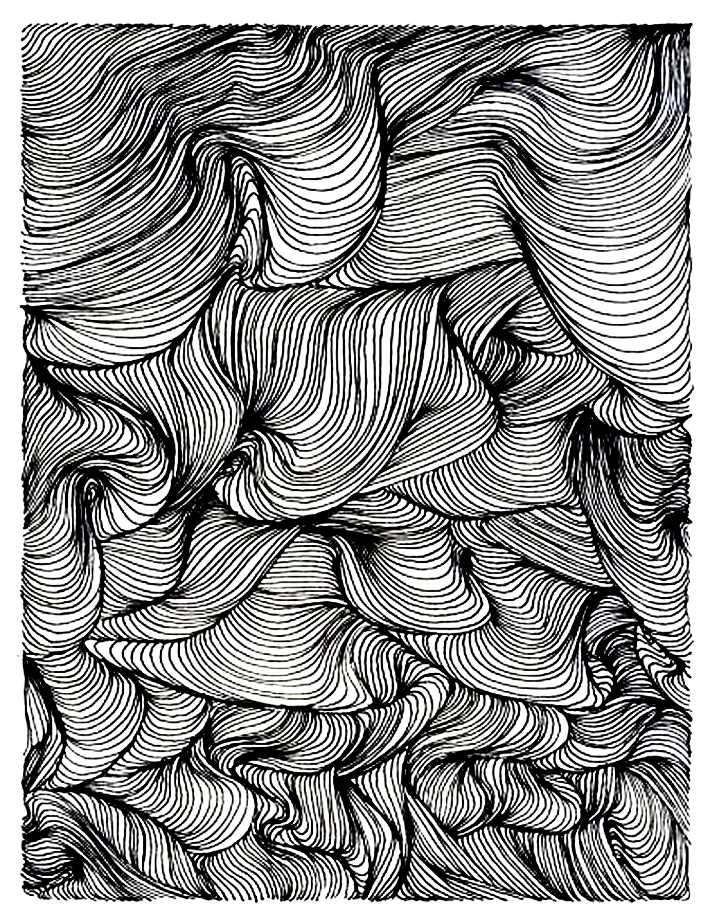 Relax vortex Anti stress Adult Coloring Pages Page 2
