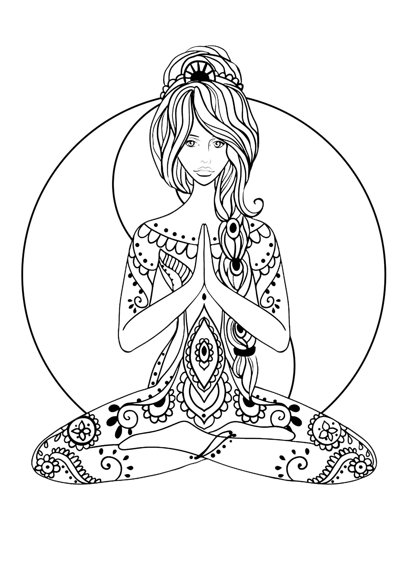 Yoga Coloring page (easy)