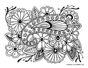 Alliance of flowers and paisley pattern