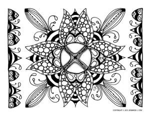 Abstract design looking like a flower