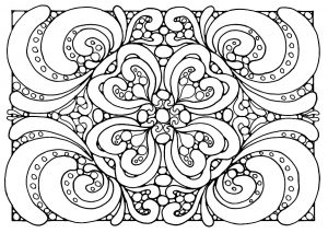 Coloring adult patterns