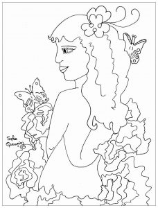 Coloring adult stange beauty