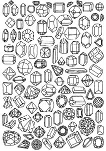 Coloring adult zen anti stress to print diamonds