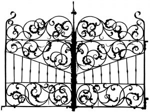 Coloring gate italy 17th century 2