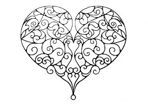 Heart with pretty curved lines